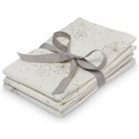 Cam Cam Printed Muslin Wash Cloth - Dandelion Natural, Fawn (Pack of 4)