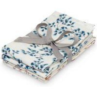 Cam Cam Printed Muslin Wash Cloth - Pressed Leaves Rose, Fiori (Pack of 4)
