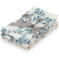 Cam Cam Printed Muslin Wash Cloth - Pressed Leaves Rose, Fiori (Pack of 4)