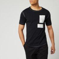 Helmut Lang Men's Patch Logo Base Layer T-Shirt - Basalt Black - M