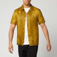 Helmut Lang Men's Casual Fit Short Sleeve Shirt - Bronze - S