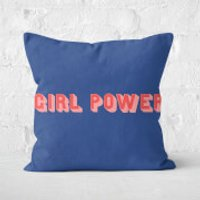 Girl Power Square Cushion - 40x40cm - Soft Touch