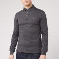 Polo Ralph Lauren Men's Long Sleeve Pima Polo Shirt - Dark Grey Heather - XXL