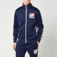 Polo Ralph Lauren Men's Zip Up Flag Track Jacket - Newport Navy - M