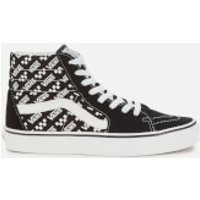 Vans Sk8-Hi Logo Repeat Hi-Top Trainers - Black/True White - UK 7