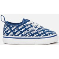 Vans Toddler's Logo Repeat Elastic Lace Trainers - Blue/True White - UK 2 Toddler