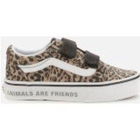 Vans Kids' Animal Old Skool Velcro Trainers - Leopard/Black - UK 2 Kids
