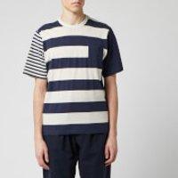 Oliver Spencer Men's Box T-Shirt - Navy/Oatmeal - XL
