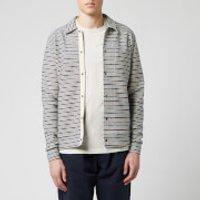 Oliver Spencer Men's Rundell Jersey Jacket - Navy/Oatmeal - S