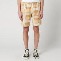 Folk Men's Drawcord Assembly Shorts - Marigold Jacquard - S