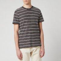 Folk Men's Textured Stripe T-Shirt - Charcoal Ecru - S