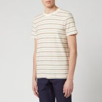 Folk Men's Textured Stripe T-Shirt - Ecru Fog - XL