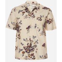 Universal Works Men's Flower Print Road Shirt - Ecru - S