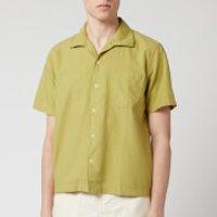 Universal Works Men's Open Collar Oxford Polo Shirt - Tea - XL
