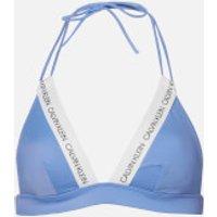 Calvin Klein Women's Fixed Triangle Bikini Top - Persian Jewel - M