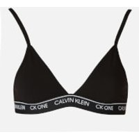 Calvin Klein Women's Unlined Triangle Bra - Black - L
