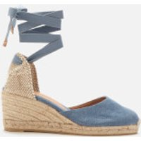 Castaner Women's Carina Wedged Espadrille Sandals - Jeans - UK 6