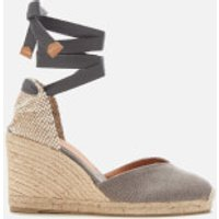 Castaner Women's Chiara Wedged Espadrille Sandals - Plomo - UK 7.5