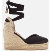 Castaner Women's Chiara Platform Wedged Espadrille Sandals - Black - UK 6