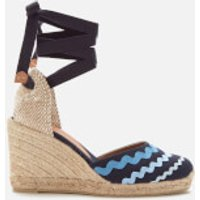 Castaner Women's Craby Wedged Espadrille Sandals - Azul Multi - UK 7.5