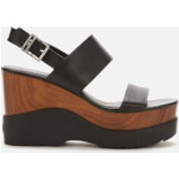 MICHAEL MICHAEL KORS Women's Rhett Wedge Sandals - Black - UK 8