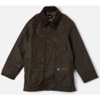 Barbour Boys Beaufort Waxed Jacket - Olive - L