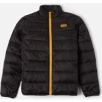 Barbour International Boys Reed Quilted Jacket - Black/Yellow - L
