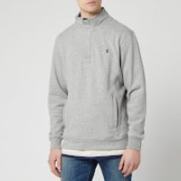 Joules Men's Deckside Half-Zip Sweatshirt - Grey Marl - L
