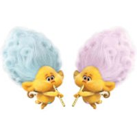 Trolls World Tour Cherub Blue & Pink Mini Sized Cardboard Cut Out's - Trolls Gifts