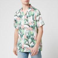 Levi's Men's Cubano Shirt - Flamingo Leaf Print Cloud Dancer - L
