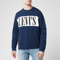 Levi's Men's Logo Colorblock Crewneck Sweatshirt - Blue/White - S