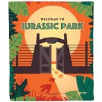 Jurassic Park Gates Fleece Blanket - Blanket Gifts