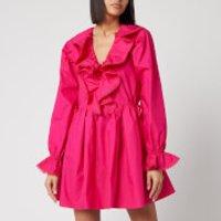 Self-Portrait Women's Fuchsia Cotton Poplin Mini Dress - Fuchsia - UK 8