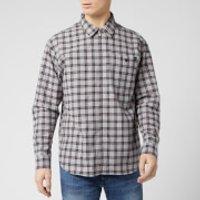 Edwin Men's Wilson Zip Through Shirt - Silver Cloud/Cantaloupe - M