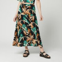 Whistles Women's Tropical Floral Samira Skirt - Green/Multi - UK 16