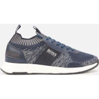 BOSS Men's Titanium Runn Knitted Running Style Trainers - Navy - UK 11