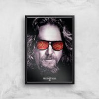 The Big Lebowski Giclee Art Print - A2 - Black Frame