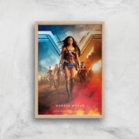 DC Wonder Woman Giclee Art Print - A4 - Wooden Frame - Woman Gifts