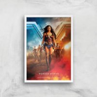 DC Wonder Woman Giclee Art Print - A4 - White Frame - Woman Gifts