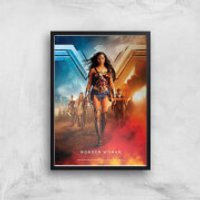 DC Wonder Woman Giclee Art Print - A4 - Black Frame - Woman Gifts
