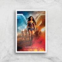 DC Wonder Woman Giclee Art Print - A3 - White Frame - Wonder Woman Gifts