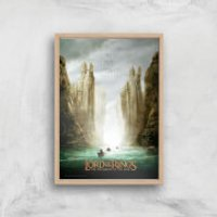 Lord Of The Rings: The Fellowship Of The Ring Giclee Art Print - A4 - Wooden Frame