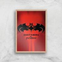 Batman & Robin Giclee Art Print - A4 - Wooden Frame - Robin Gifts