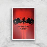 Batman & Robin Giclee Art Print - A4 - White Frame - Robin Gifts