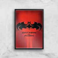 Batman & Robin Giclee Art Print - A4 - Black Frame - Robin Gifts