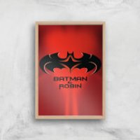 Batman & Robin Giclee Art Print - A3 - Wooden Frame - Robin Gifts