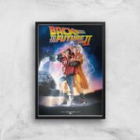 Back To The Future Part 2 Giclee Art Print - A4 - Black Frame