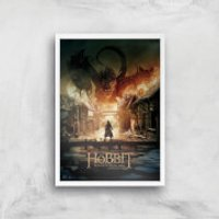 The Hobbit: Battle Of The Five Armies Giclee Art Print - A2 - White Frame - Hobbit Gifts