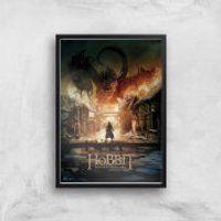 The Hobbit: Battle Of The Five Armies Giclee Art Print - A2 - Black Frame - Hobbit Gifts