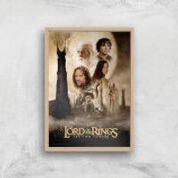 Lord Of The Rings: The Two Towers Giclee Art Print - A4 - Wooden Frame - Rings Gifts